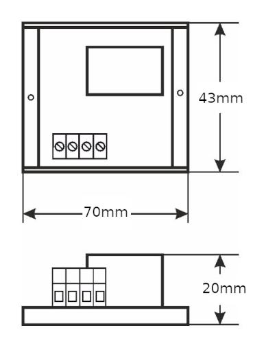 Wymiary - Moduł przekaźnikowy MS AWZ511