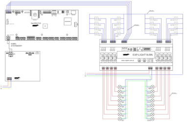 Schemat połączenia EXP-LIGHT16-RN