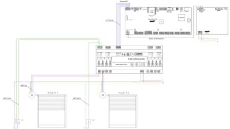 Schemat podłączenia EXP-SROL8-RN