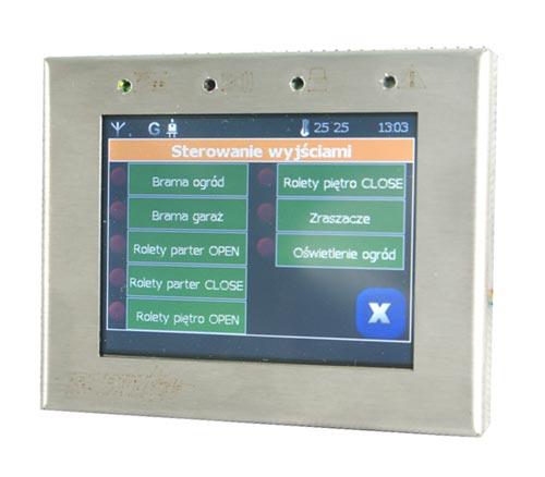 TPR-1 - Wygląd menu panelu dotykowego do systemu NeoGSM.