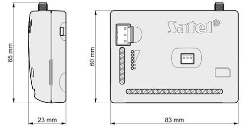 GPRS-A LTE - Wymiary modułu monitorującego Satel.
