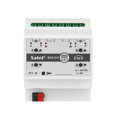 Aktor (moduł) żaluzjowy KNX‑BSA12H (230 V AC)