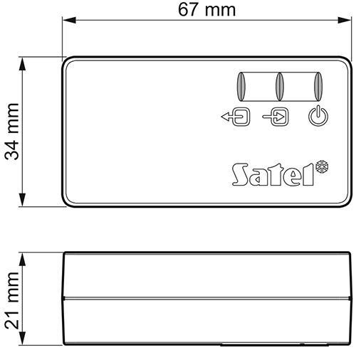 Wymiary KNX-USB.