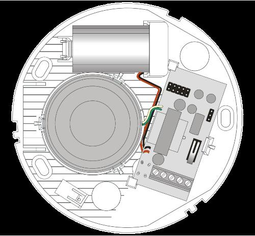 Wnętrze sygnalizatora SPW-150