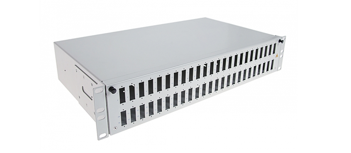 Przełącznica światłowodowa 2U 48xSC duplex.
