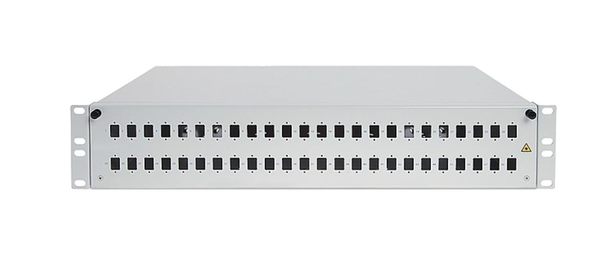 Przełącznica światłowodowa 48x SC simplex.