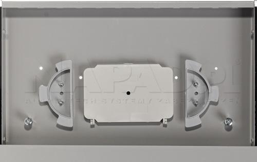 Organizer przewodów oraz tacka światłowodowa w przełącznicy optycznej.