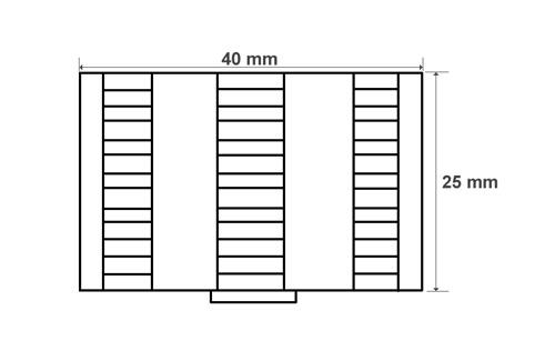 Wymiary koszyka na osłonki spawów (mm)