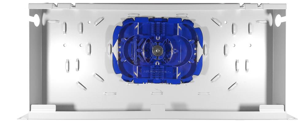 Montaż tacki światłowodowej w prezłącznicy RACK