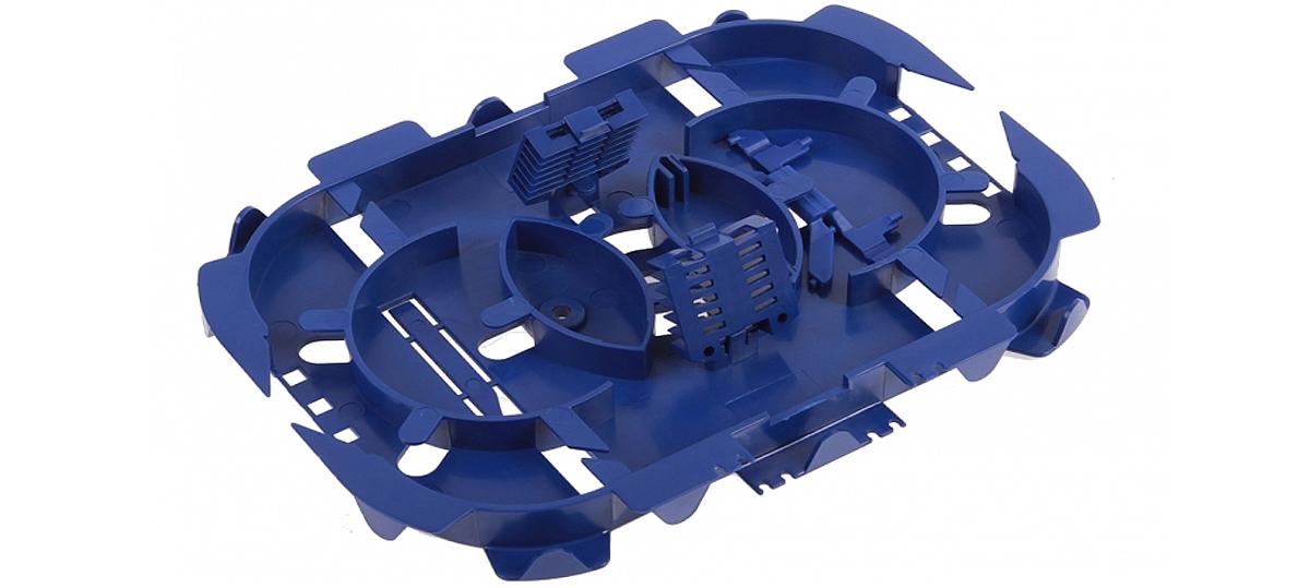 Wygląd wnętrza tacki śwaitłowodowej SPT01