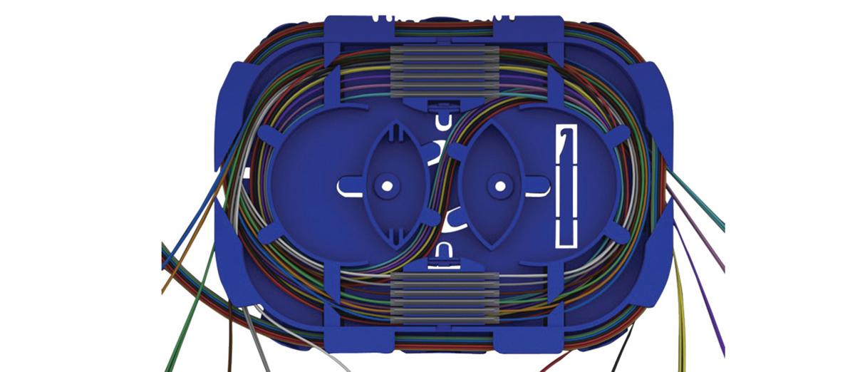 Organizacja spawów światłowodowych w kasecie SPT01