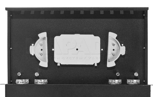 Przykład zastosowania kasety światłowodowej.