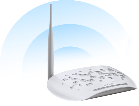 TD-W8951ND - Niezawodna transmisja bezprzewodowa.