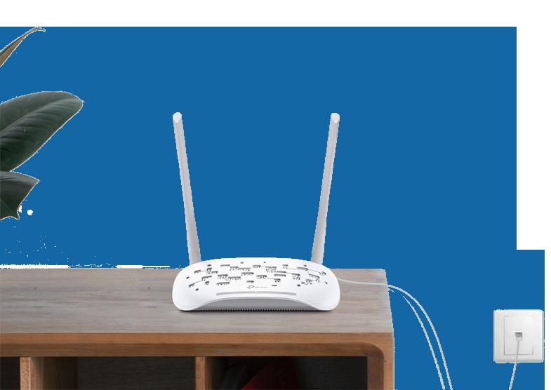 Router/modem VDSL.