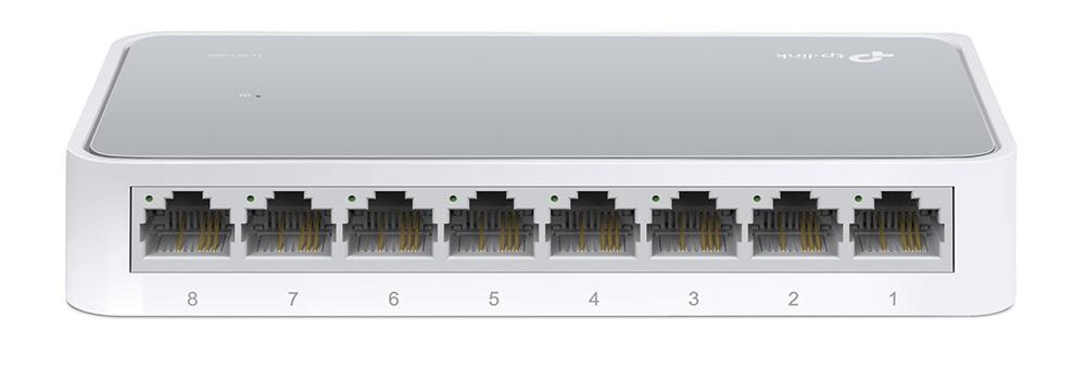 Diody potwierdzajace pracy switch'a - TL-SF1008D TP-Link