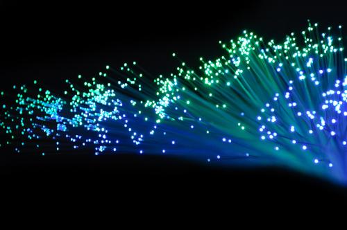 Widok światłowodów.