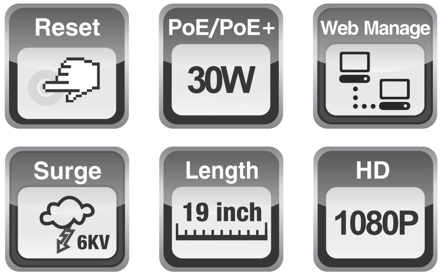 UTP1-SW16-TP300 - Wybrane specyfikacje switcha.