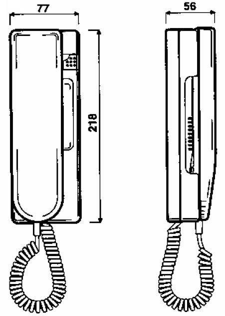Wymiary unifonu Urmet 1131.