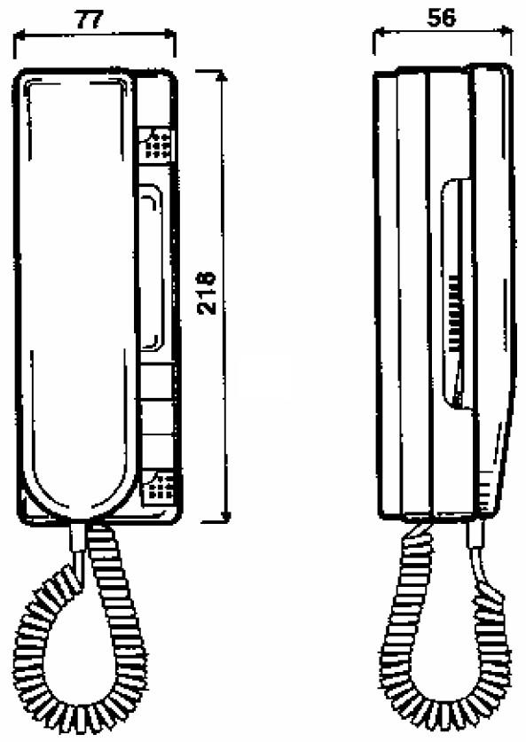 Wymiary unifonu Urmet 1131/1.
