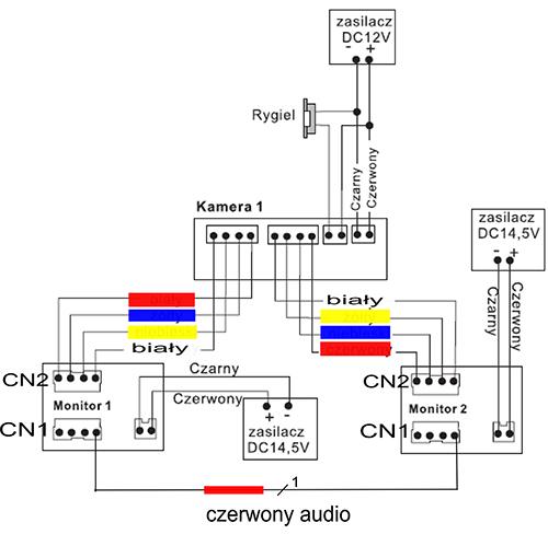 Schemat połączenia interkomu.