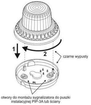 Schemat składania i rozkładania sygnalizatora