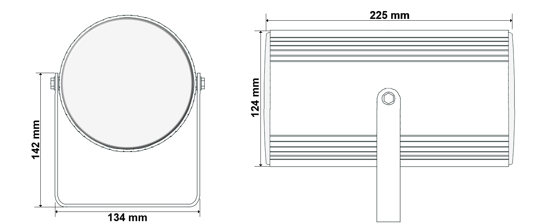 Wymiary głośnika HQM-20P.