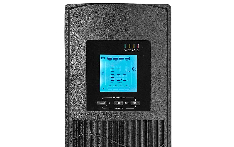 Wyświetlacz zastosowany w zasilaczu awaryjnym UPS10000RT/EPO RACK.