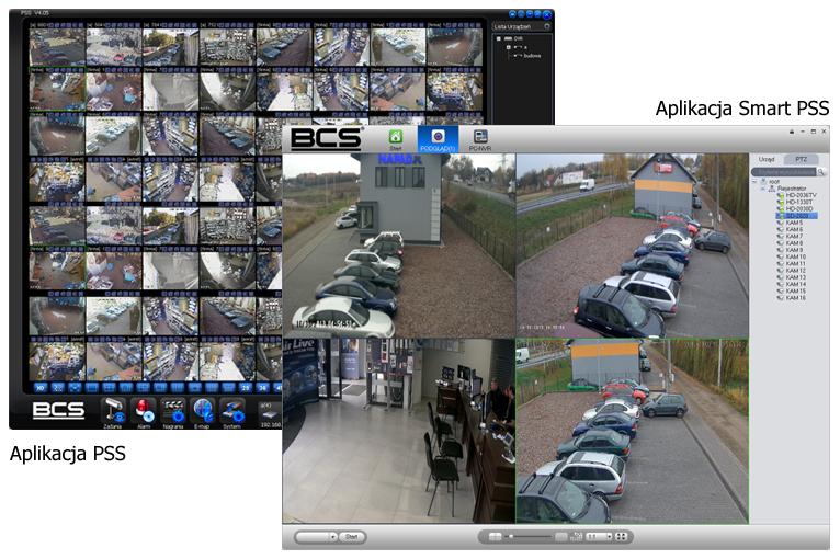 Aplikacja PSS i smart PSS - zrzut obrazu.