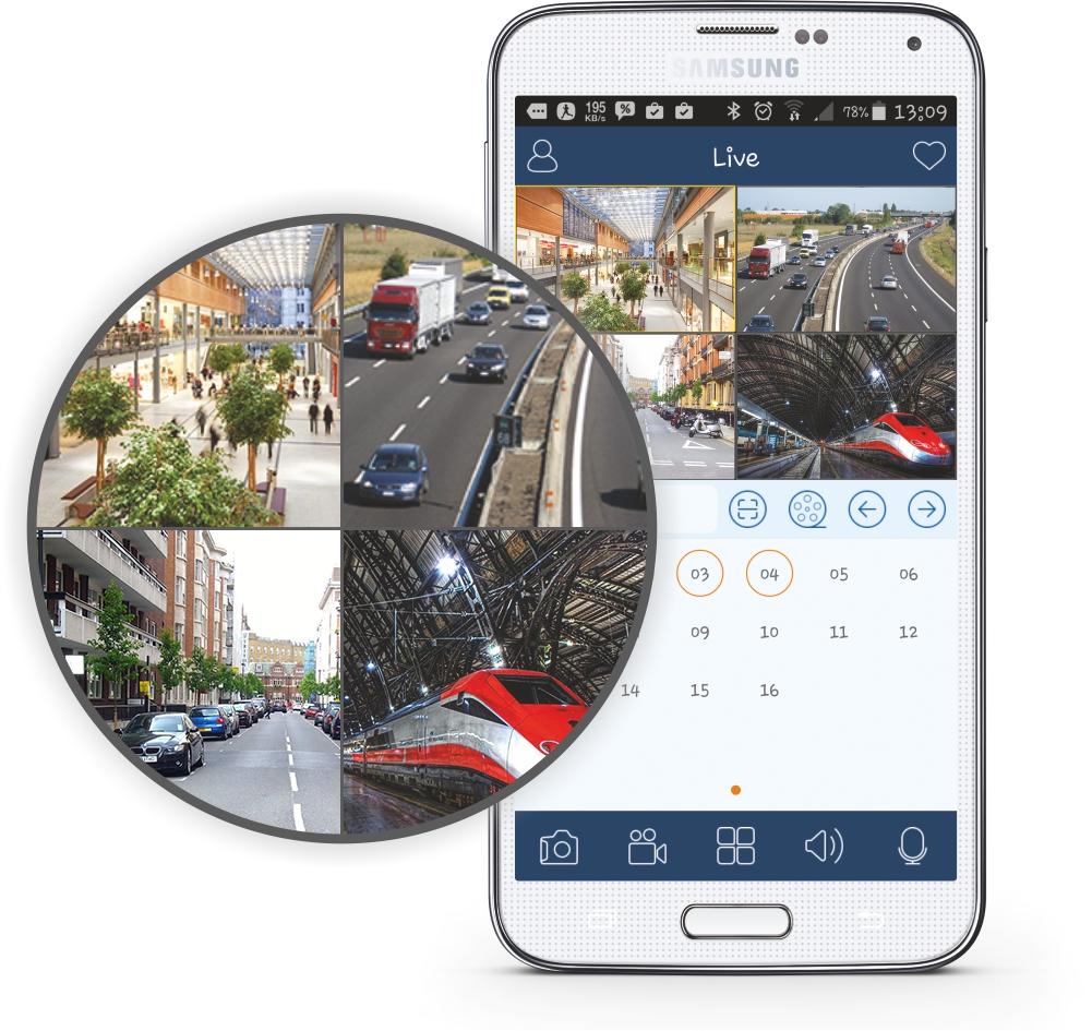 Wygląd interfejsu graficznego aplikacji SuperLive Plus.