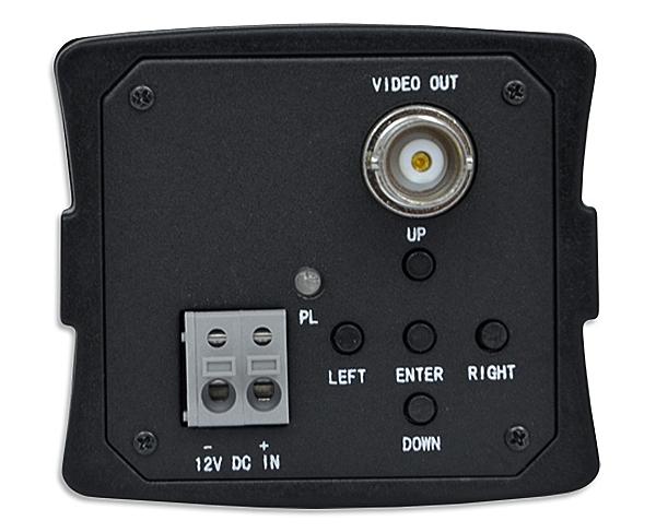 BCS-BQ7200 - Tył kamery z widocznymi przyciskami do zmiany trybu pracy.