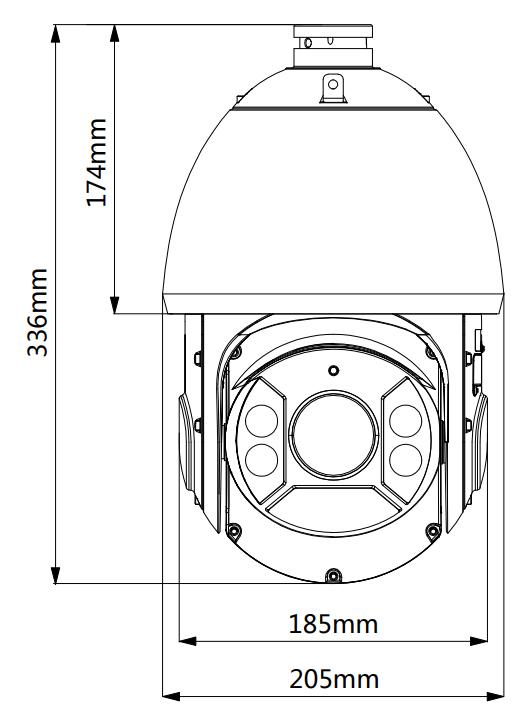 BCS-SDIP5430-III - Wymiary kamery IP PTZ.