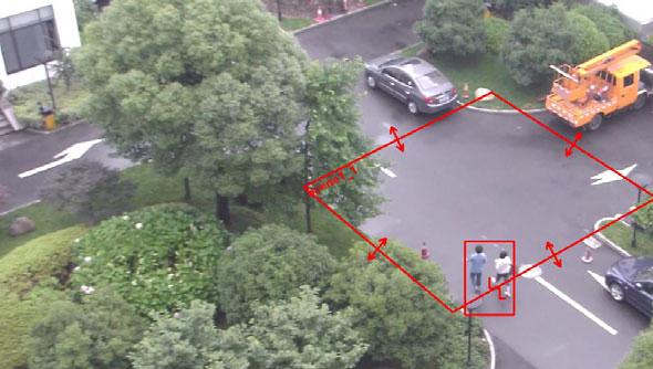 Wykrywanie poruszającego się obiektu w określonej strefie - Cross Warning Zone