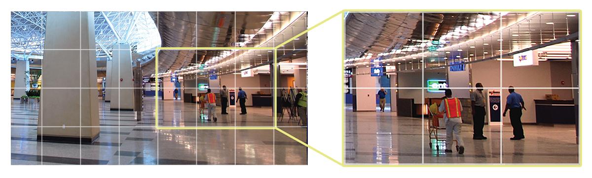 Detekcja ruchu pozwala na inteligentny monitoring ochranianych obiektów.