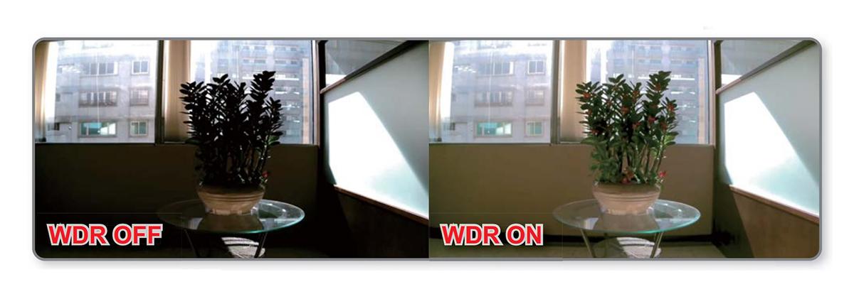 Funkcja Wide Dynamic Range w kamerze DM720
