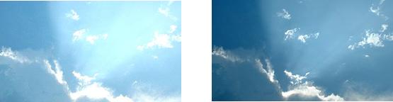 PX-TH2002 - Różnica obrazu bez i z funkcją ALC (auto light control).