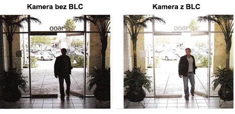 Funkcja BLC w kamerze Hikvision HD-TVI.