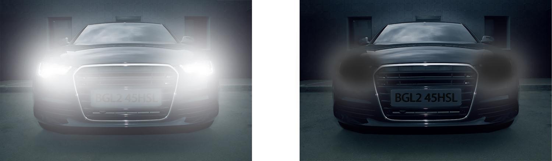 HSBLC - Funkcja zaawansowanego maskowania silnych źródeł światła