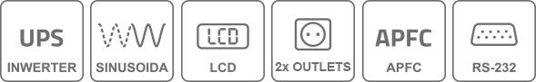 Właściwości invertera UPS INV800
