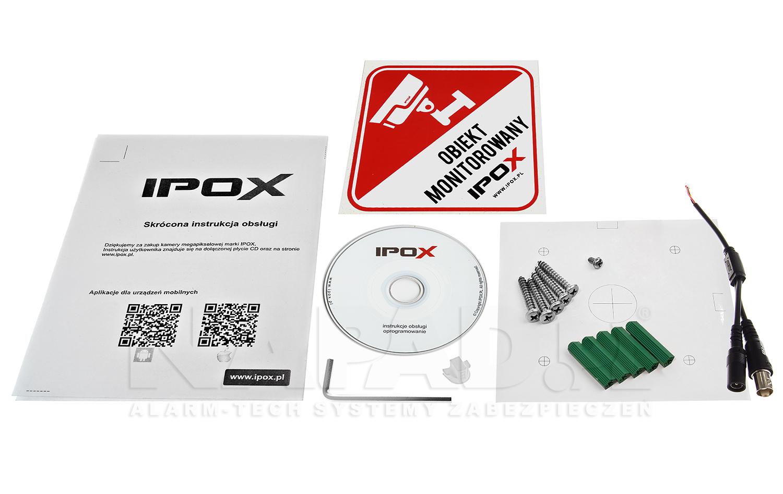 PX-TVIP2036AS-P - Akcesoria dostępne wraz z kamerą.