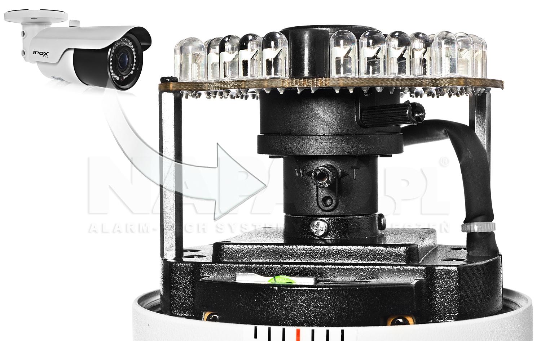 PX-TVIP2036AS-P - Mechanizm regulacji obiektywu w kamerze.
