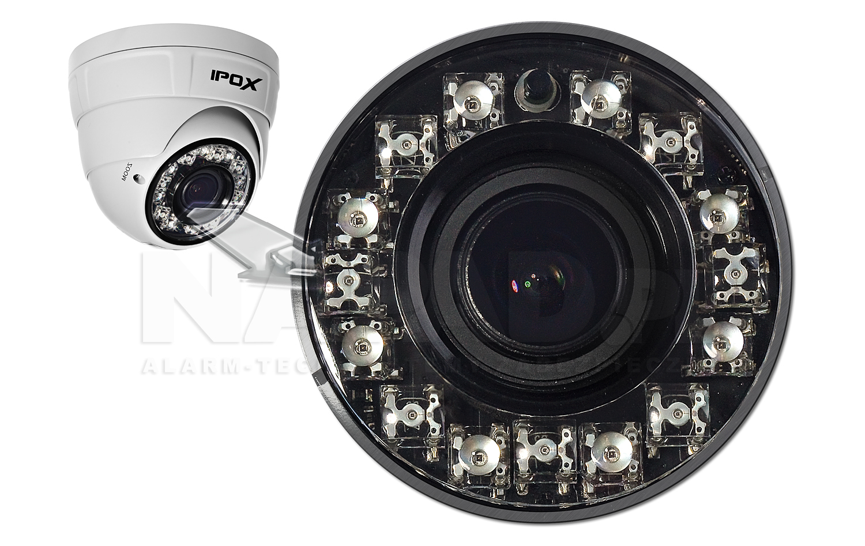 Wydajny oświetlacz IR zapewnia skuteczny monitoring nocą.