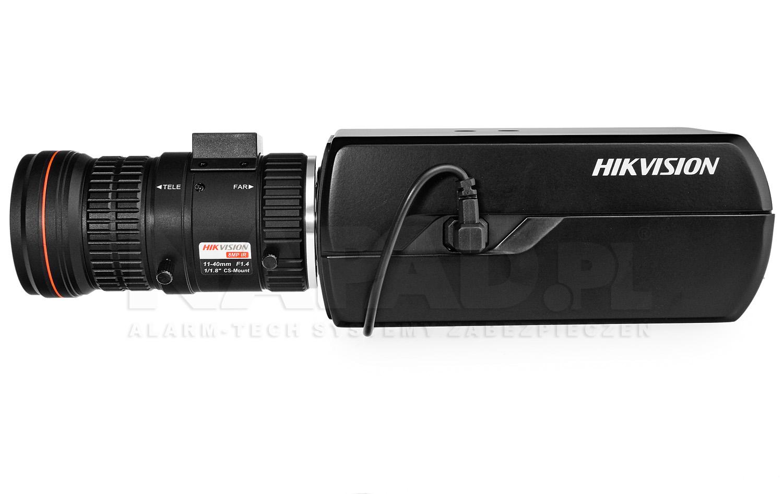 Solidne wykonanie obudowy kamery IP Hikvision.