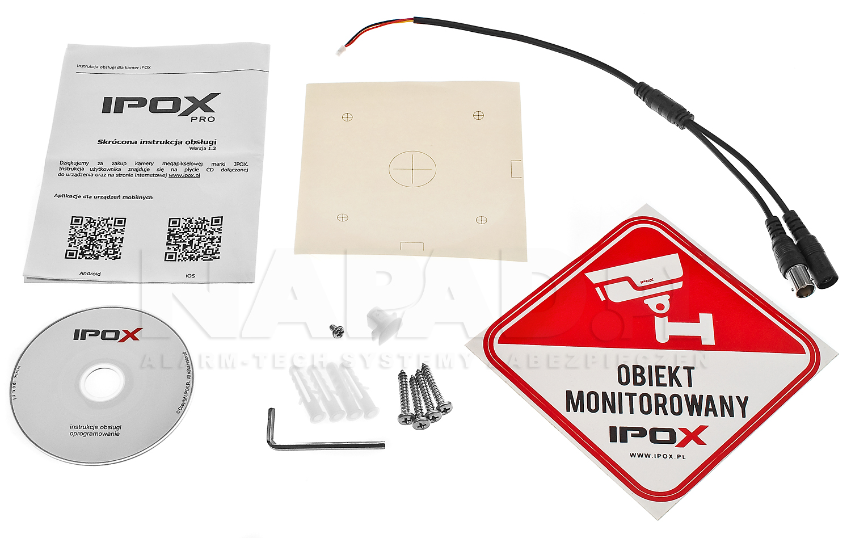 PX-TZIP4048AS-P - Akcesoria dostępne wraz z kamerą.