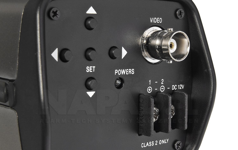 PX-BH2000WS - Wyprowadzone złącza w kamerze.