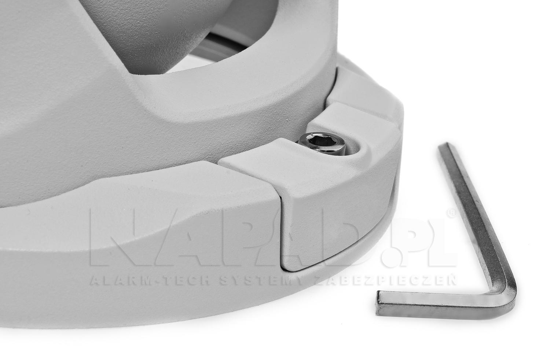 Łatwy demontaż poszczególnych elementów obudowy kamery