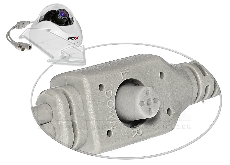 Kamera IPOX VP330E z menu OSD.