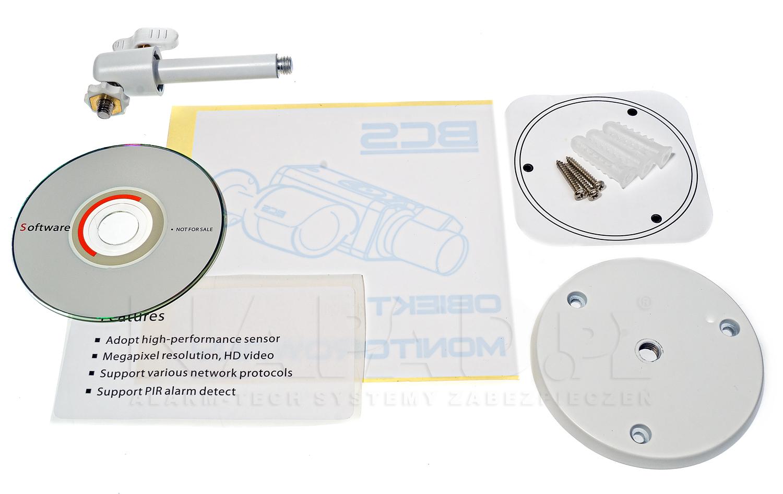 Akcesoria instalacyjne dostępne z kamerą BCS-HIP1200W