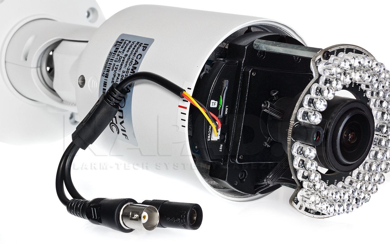 PX-TVIP2036AS-P - Gniazdo do podłączenia monitora serwisowego w kamerze megapikselowej.