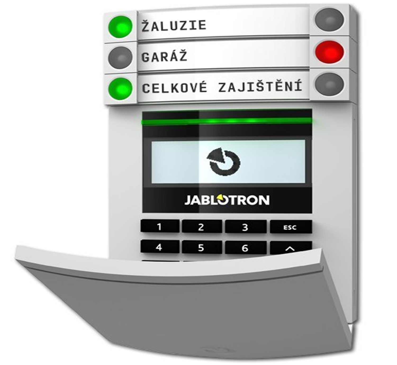 JA114E - Klawiatura LCD z RFiD i 3 przyciskami JA192E