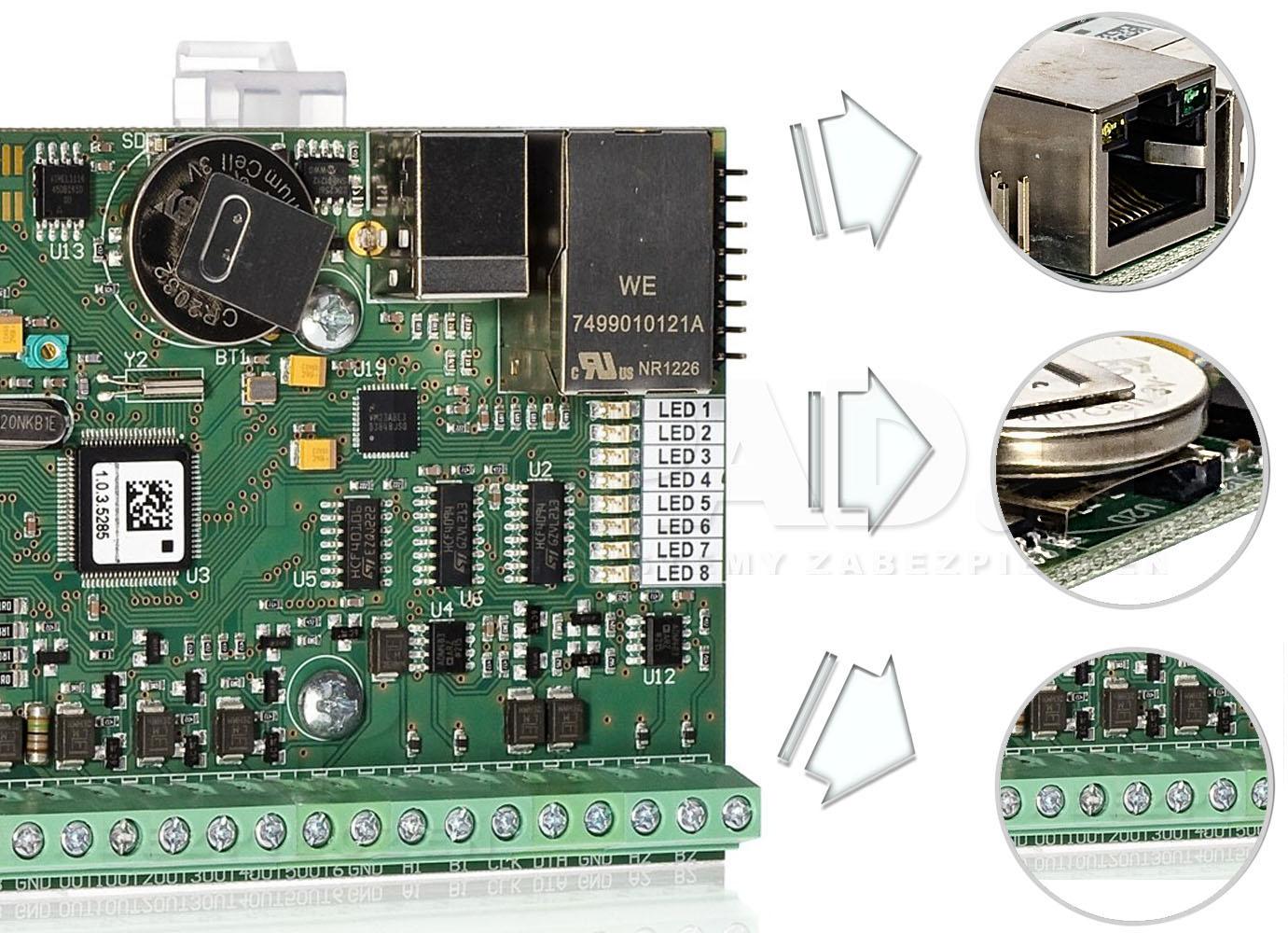 MC16 - Wybrane elementy kontrolera.